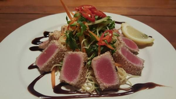 Sesame Seared Tuna with Noodles