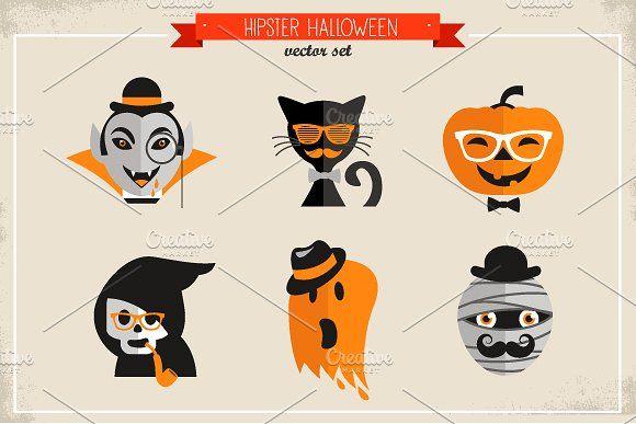 Hipster Halloween by Marish on @creativemarket