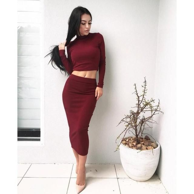 Blouse & Dress Solid Women Long Sleeve Bodycon Party Cocktail Club Dresses #clubdresses