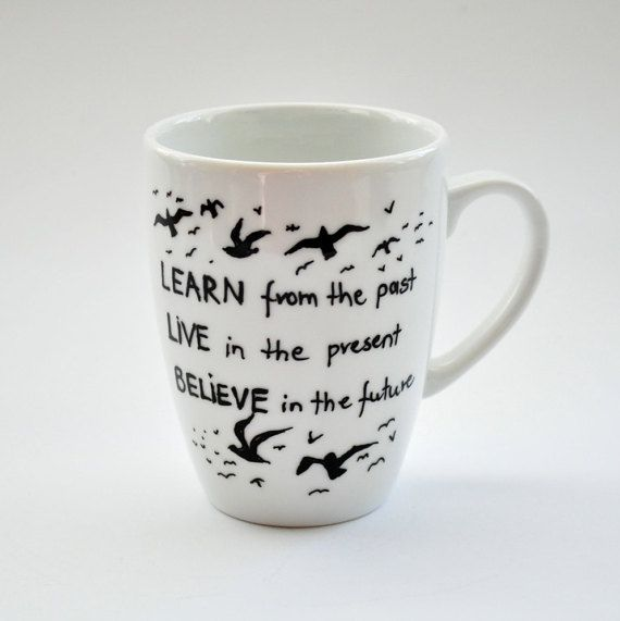 Custom Quote Mug. Inspirational Hand Painted by atelierChloe
