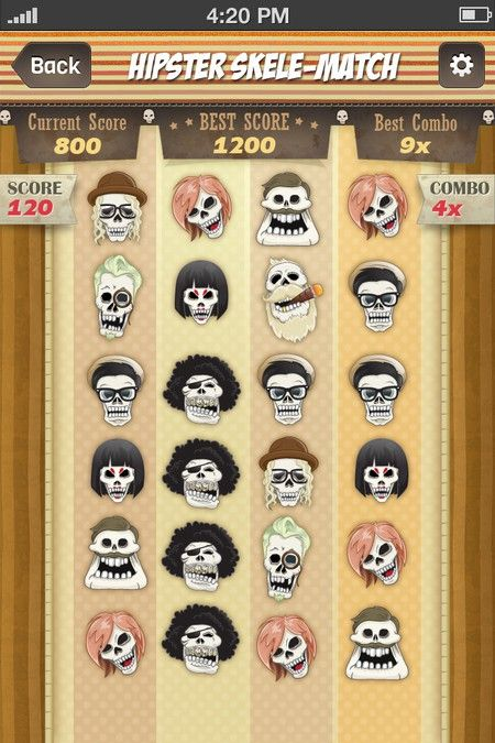 Create a fun mobile app game with hipster skeleton heads! by YusakG.F.X
