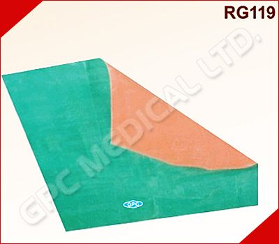 """Mackintosh Rubber Sheet are well-known as a #MackintoshSheeting. The Mackintosh Rubber Sheet are powered with rich industrial expertise and experience. The company manufactures and exports Mackintosh Rubber Sheet to meet the requirements of the clients. This Rubber Mackintosh Bed Sheets is available in the width of 90 cm. (36""""). The company offers excellent Hospital #RubberSheeting in the rolls of 25 meters in Red/Green, Red/Blue color."""