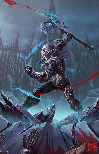 World of Warcraft - Elfa de la noche - Guerrera Más