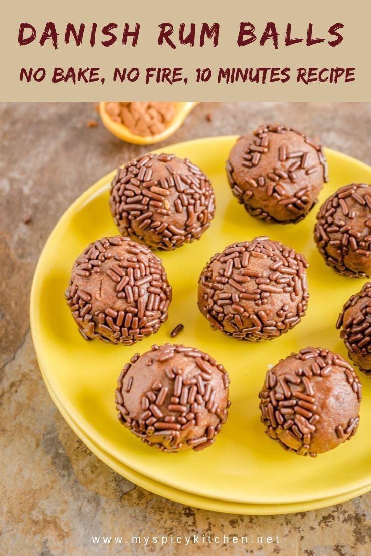 Romkugler Danish Rum Balls Myspicykitchen Recipe Rum Balls Yummy Food Dessert Dessert Recipes Easy