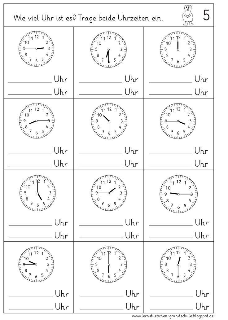 pin von yvonne auf uhr math addition worksheets addition worksheets und math addition. Black Bedroom Furniture Sets. Home Design Ideas