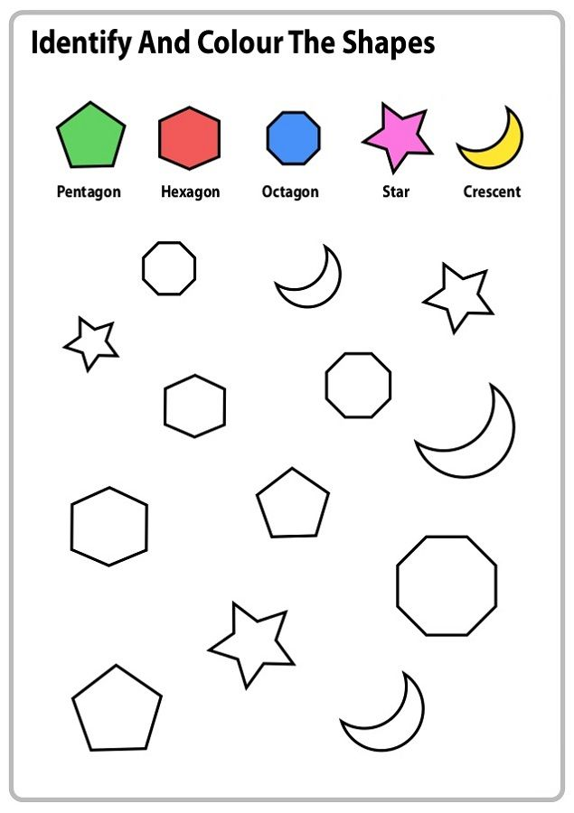 work sheets for kids shapes color K5 Worksheets Kids