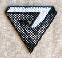 Impossible Triangle pin bead pattern