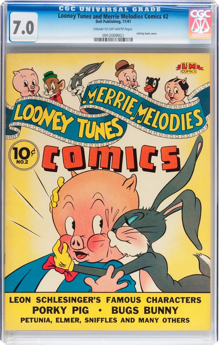 looney tunes and merrie melodies comics 2 dell 1941 cgc lot