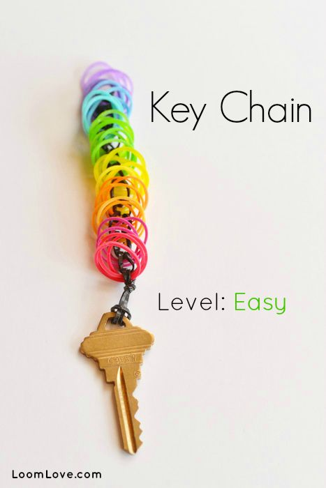 How to Make a Rainbow Loom Key Chain #rainbowloom
