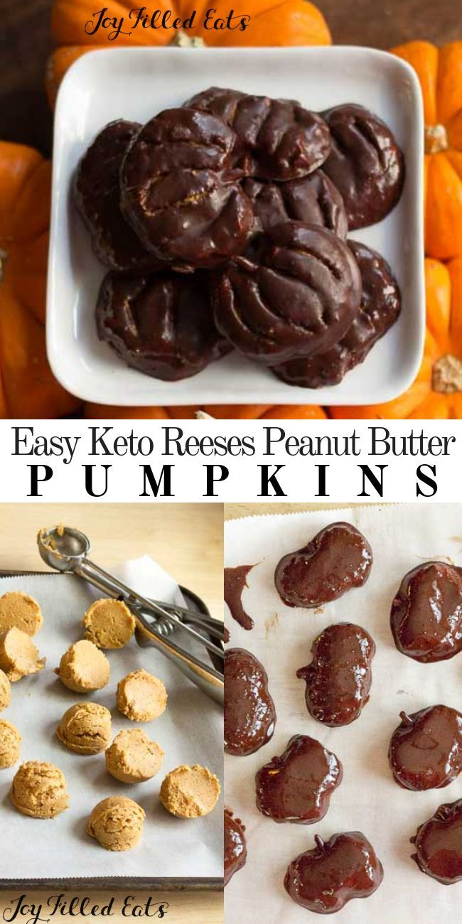 EASY Keto Reeses Peanut Butter Pumpkins! Don't miss out ...