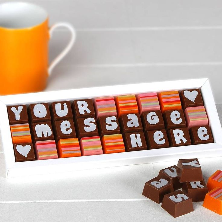 Personalised Chocolates In Medium Box from notonthehighstreet.com