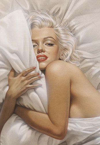 Michael Mobius Dream (Marilyn Monroe) - close up of portrait | This image first pinned to Marilyn Monroe Art board, here: http://pinterest.com/fairbanksgrafix/marilyn-monroe-art/ || #Art #MarilynMonroe
