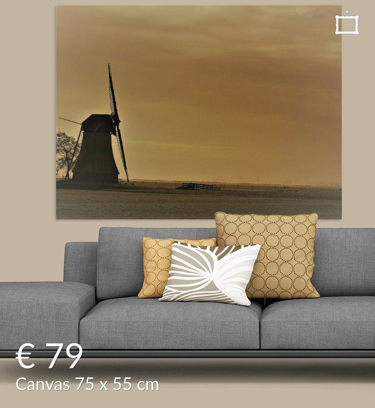 molen de Olifant Canvas met of zonder baklijst , staal, hout, Xpozer, aluminium, dibond, fotobehang, ingelijste fotoprints . Modern, abstract, natuur, landschap, muurdecoratie, foto, schilderij.  muurdecoratie, foto, canvas .huisinrichting,