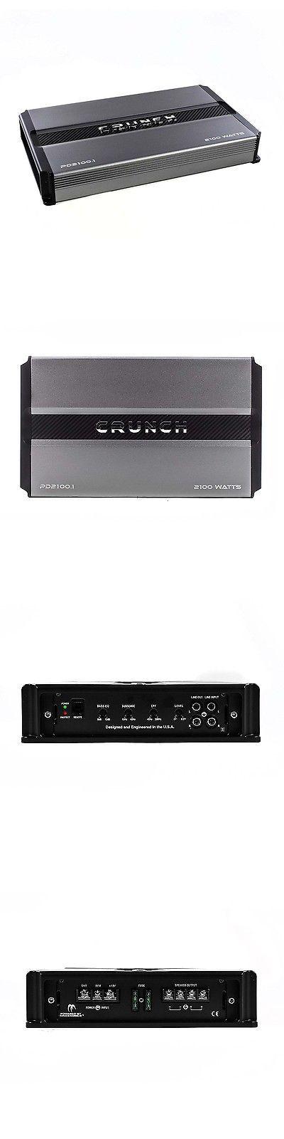 Car Amplifiers: Crunch Power Drive 2100W Max Monoblock Class D Car Audio Amplifier   Pd2100.1 -> BUY IT NOW ONLY: $98.99 on eBay!