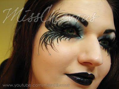 Halloween Eye Makeup Ideas | MissChievous.tv: Fallen Angel Halloween Makeup