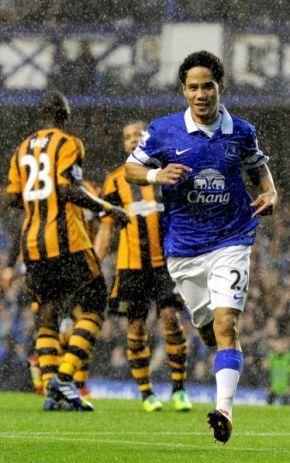 ~ Steven Pienaar of Everton FC against Hull City ~