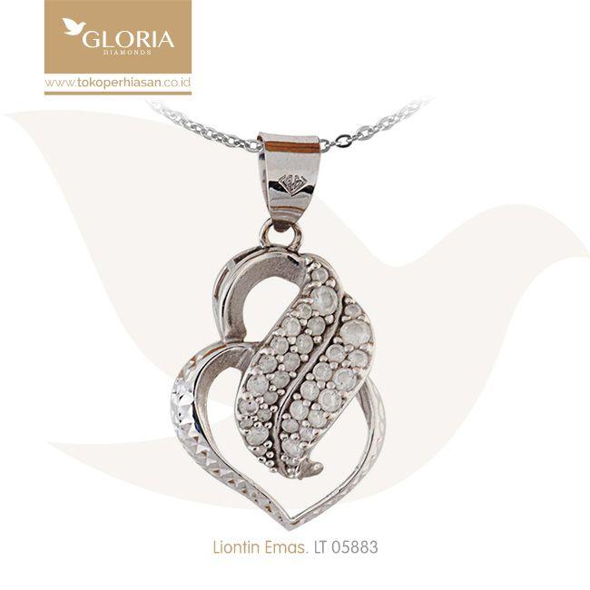 Liontin Emas Putih Bentuk Hati Variasi Mata Sercon. #goldpendant #goldstuff #gold #goldjewelry #jewelry #pendant #perhiasanemas #liontinemas #tokoperhiasan #tokoemas