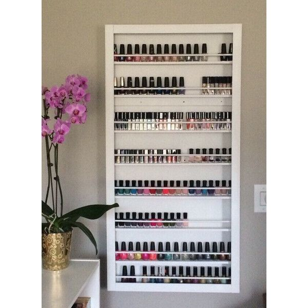 Personalized CUSTOM Wall Mounted Nail Polish Rack