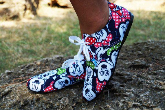 Mickey Mouse Schuhe Stiefel Disney Helden süße von BootsOnlyBoots