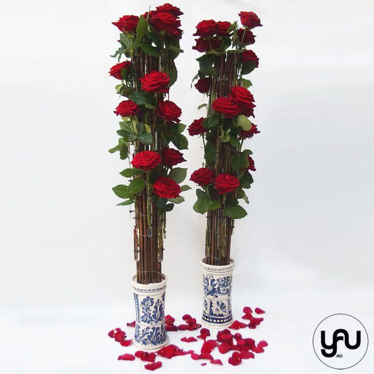 trandafiri rosii si ceramica romaneasca YaUconcept ElenaTOADER