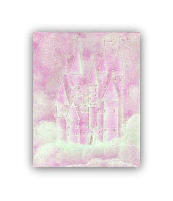 Princess Cinderella Pink Castle Princess wall art Baby Girl