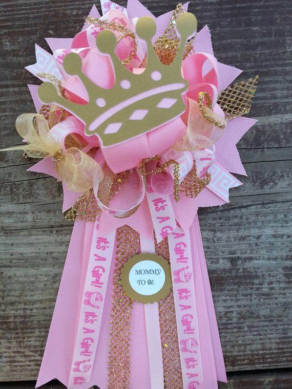 Ducha de bebé de color rosa y oro mamá princesa por bonbow en Etsy