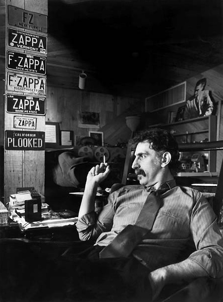Frank Zappa in his Studio City home in 1989
