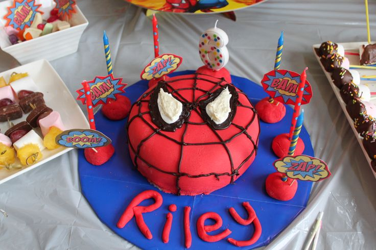 Spiderman/ Superhero party created for my 6 year old son!