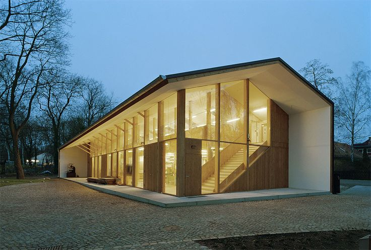 Built by UTArchitects in Berlin, Germany with date 2009. Images by Ulrich Schwarz. A farm estate was converted into a training centre for carpenters and restorers run by the  Restoration Center Berlin...