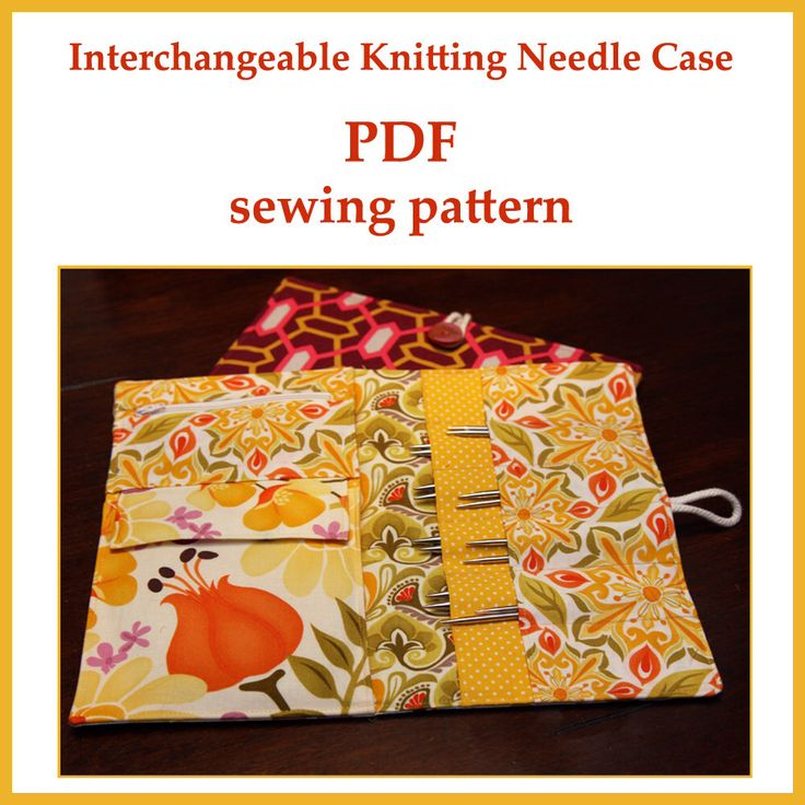 Knitting Needle Storage Case Pattern : Interchangeable knitting needle case pdf sewing pattern