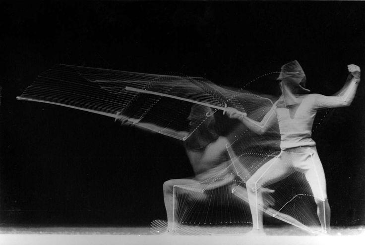 Chronophotographie d'un escrimeur. Georges Demeny