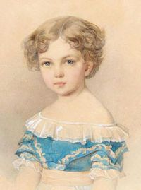 Grand Duchess Alexandra Alexandrovna (1842-1849), daughter of Tsar Alexander II and Empress Maria Alexandrovna. Called Lina or Sashenka by her family, the child died of meningitis at the age of six.