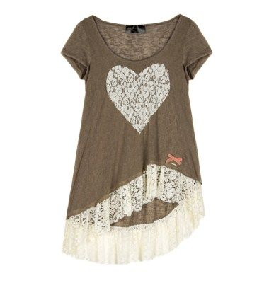 Asymmetrical top with lace