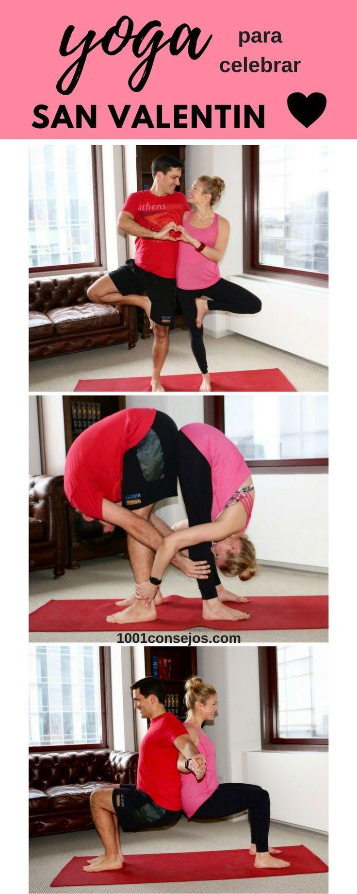El yoga tiene muchos beneficios, los cuales se duplican si lo practicas con tu pareja. ¡Inténtalo este día de #SanValentín! | Ideas para San Valentín | Ideas para el 14 de Febrero | #Yoga para parejas.