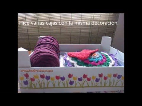 3 ideas para decorar cajas de fresas,diy recycled wood box - YouTube