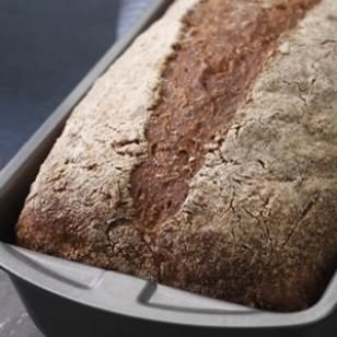 Everyday Whole-Wheat Bread  This whole-wheat loaf is excellent for sandwiches, toast or eating plain. It has a light, springy texture and a mellow, slightly sweet grain taste from cracked wheat. The crust is crisp when the bread is first baked, but gradually softens as it stands. Recipe by Nancy Baggett for EatingWell.
