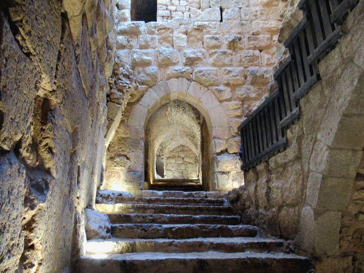 Qa'lat ar-Rabad (1184) at Ajloun, Jordan, was built using limestone cut from the dry moat around the castle.