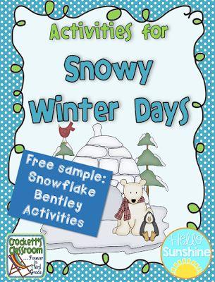 Free activities for Snowflake Bentley from Crockett's Classroom on Hello Sunshine Teachers