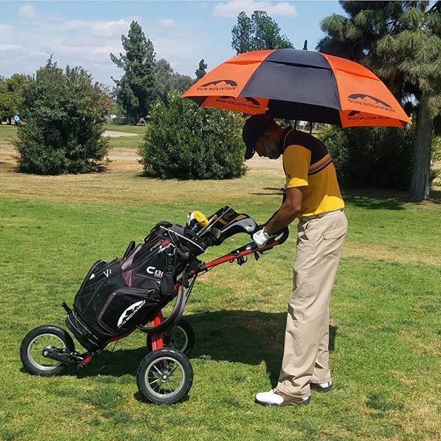 Feather313 Rocking The Sun Mountain Trifecta Speed Cart Bag Umbrella Sun Mountain Sports Golf Push Cart Golf Gear