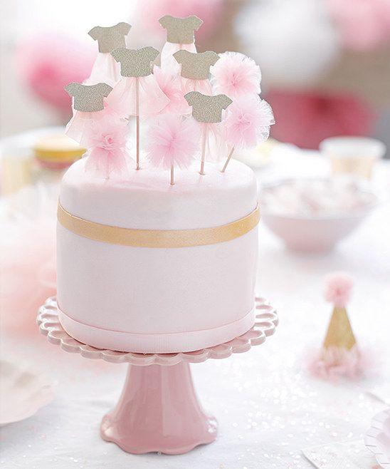Talking Tables We Heart Pink Tutu & Pom-Pom Picks - Set of 12 | zulily