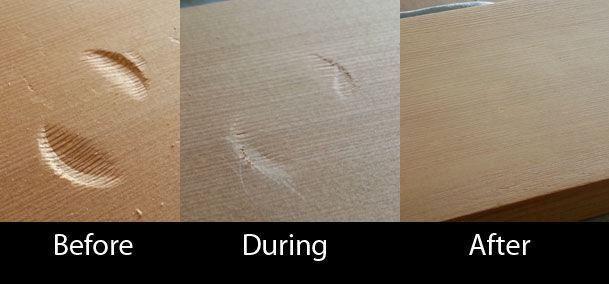 Una sencilla y didáctica guía para reparar abolladuras en la madera.