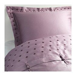 I think I found the one! // VINRANKA Duvet cover and pillowsham(s), lilac - lilac - Full/Queen (Double/Queen) - IKEA