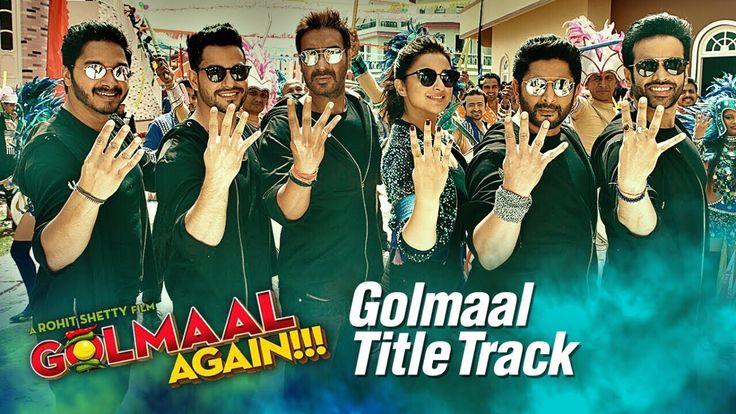 Golmaal Title Track is here which is sang by Brijesh Shandilya & Aditi Singh Sharma. The music is from Thaman S. & lyrics are from Kumaar.  Lyrics :http://www.lyricshawa.com/2017/09/golmaal-title-track-lyrics-ajay-devgn/