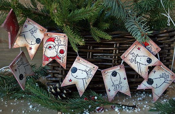 Christmas Garland Wood Christmas decoration Holiday от DecoDvorik