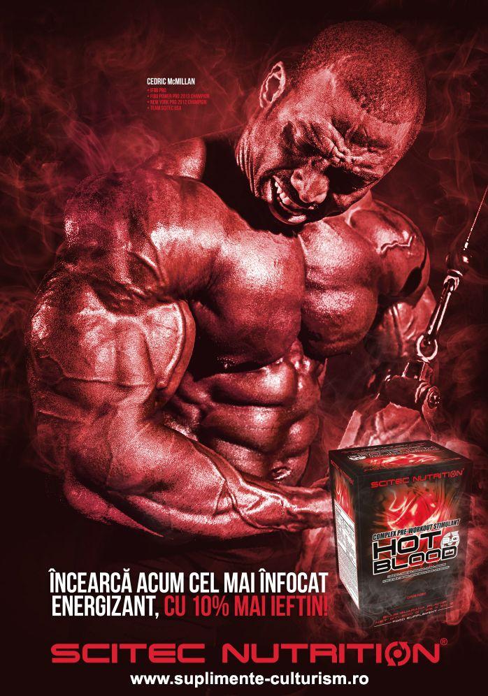 """Hot Blood 3.0 PAK http://suplimente-culturism.ro/scitec-hot-blood-pak.html  Când te antrenezi sau eşti angajat într-o activitate fizică şi ajungi la o anumită intensitate, trupul şi sângele tău se """"încing"""", astfel încât să poţi lucra mai eficient. Formula noastră complexă de pre-antrenament """"HOT BLOOD 3.0"""" este atent concepută pentru a sprijini corpul tău în activitatea fizică, în special în timpul antrenamentului de mare intensitate."""