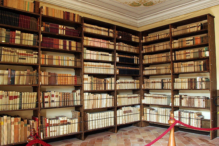 Library of Giacomo Leopardi in his house in Recanati (Italy)