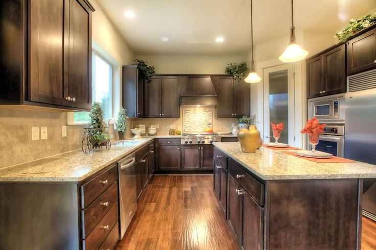 The Broadway floor plan offers a spacious kitchen with island.