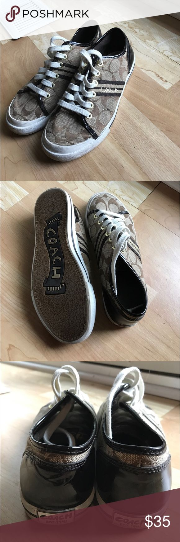 Coach Tennis Shoes Authentic Coach tennis shoes. Size 7. Very good condition, only worn a handful of times. Coach Shoes Sneakers