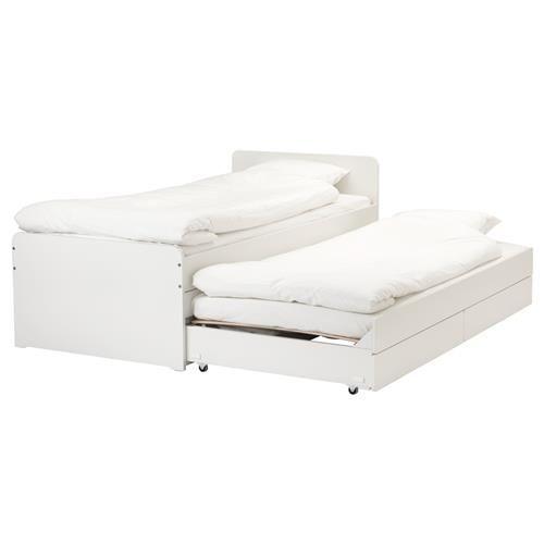 SLAKT μονό κρεβάτι με βοηθητικό κρεβάτι & αποθήκευση - IKEA