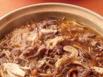 牛きのこ鍋
